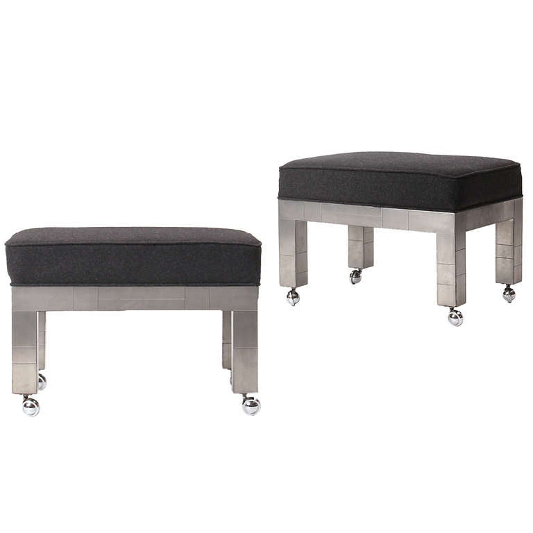 Cityscape Stools By Paul Evans at 1stdibs