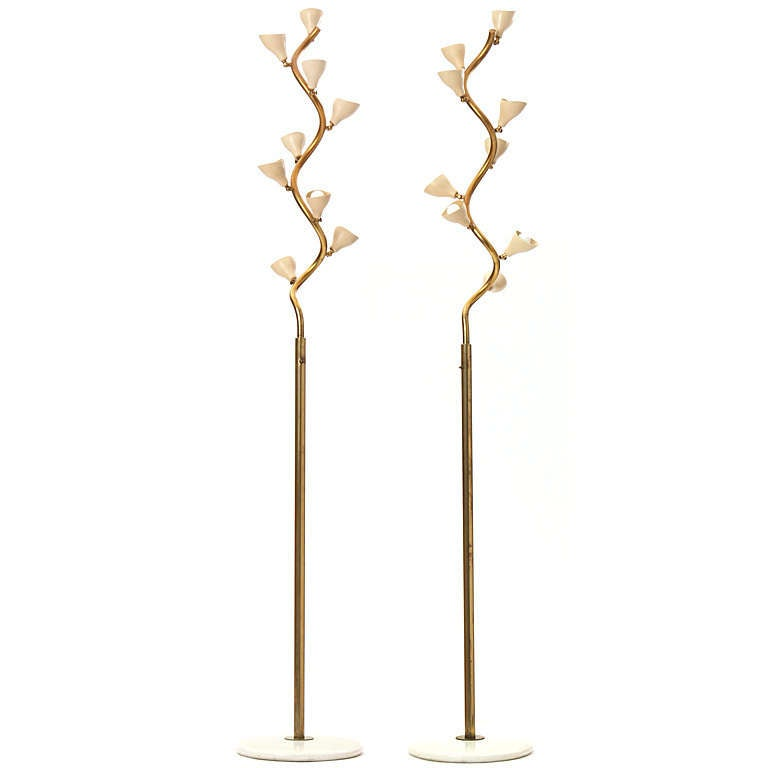 The quotvine lampquot by gino sarfatti at 1stdibs for Floor lamp with vines