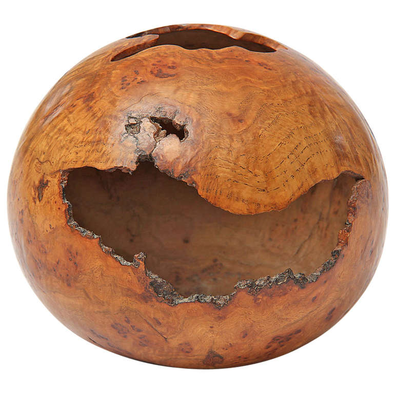 Exceptional Hollow Form Vessel by David Ellsworth For Sale