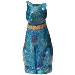 Blue Ceramic Cat