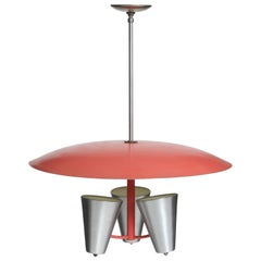 1950s Modernist Chandelier by Edward Wormley for Lightolier