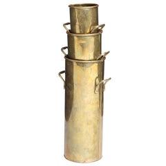 Nesting Brass Vases