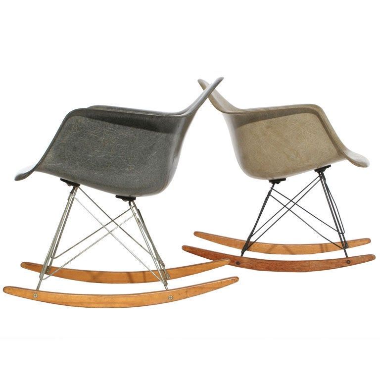 zenith shell rocking chair rare by charles and ray eames at 1stdibs