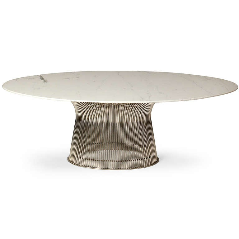 Rare Oval Dining Table And Chairs By Warren Platner Image 3