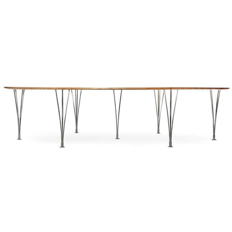 Scandinavian Modern 'Super Ellipse' Conference or Dining Table by Piet Hein For Sale