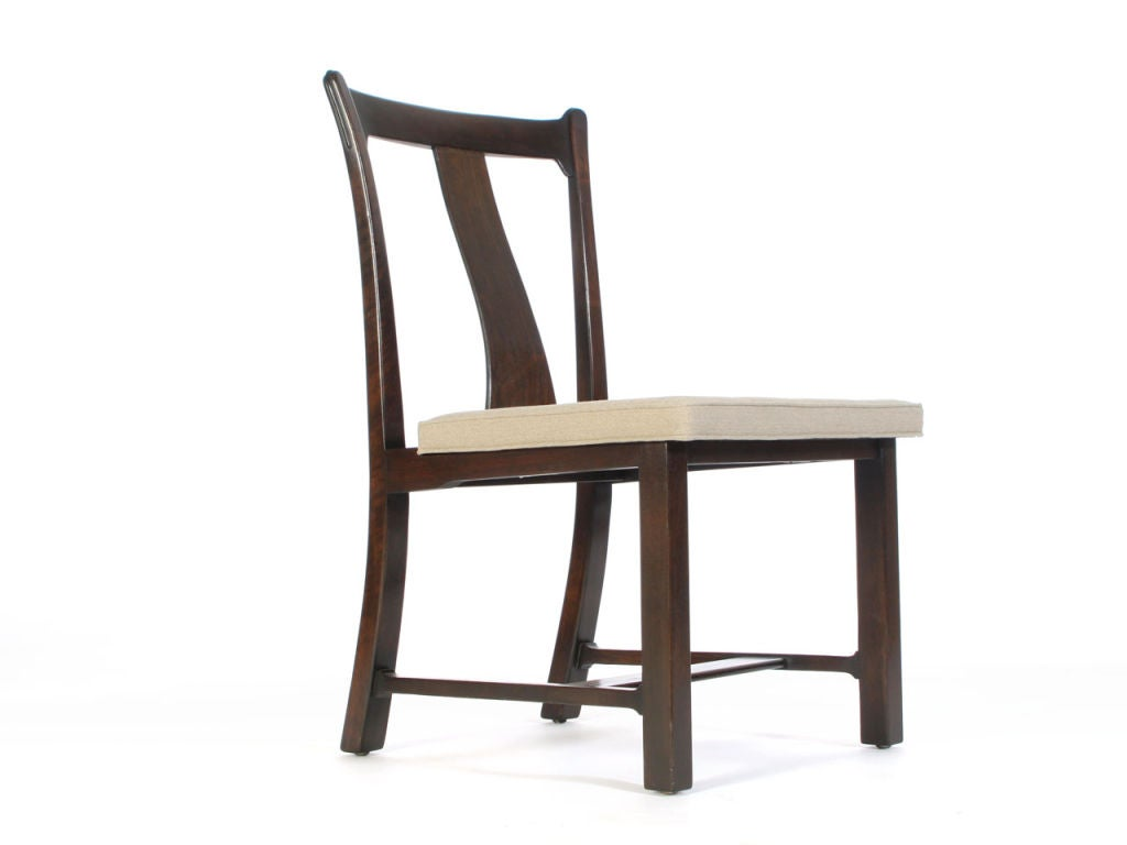 Walnut dining chairs by edward wormley at 1stdibs - Edward wormley chairs ...