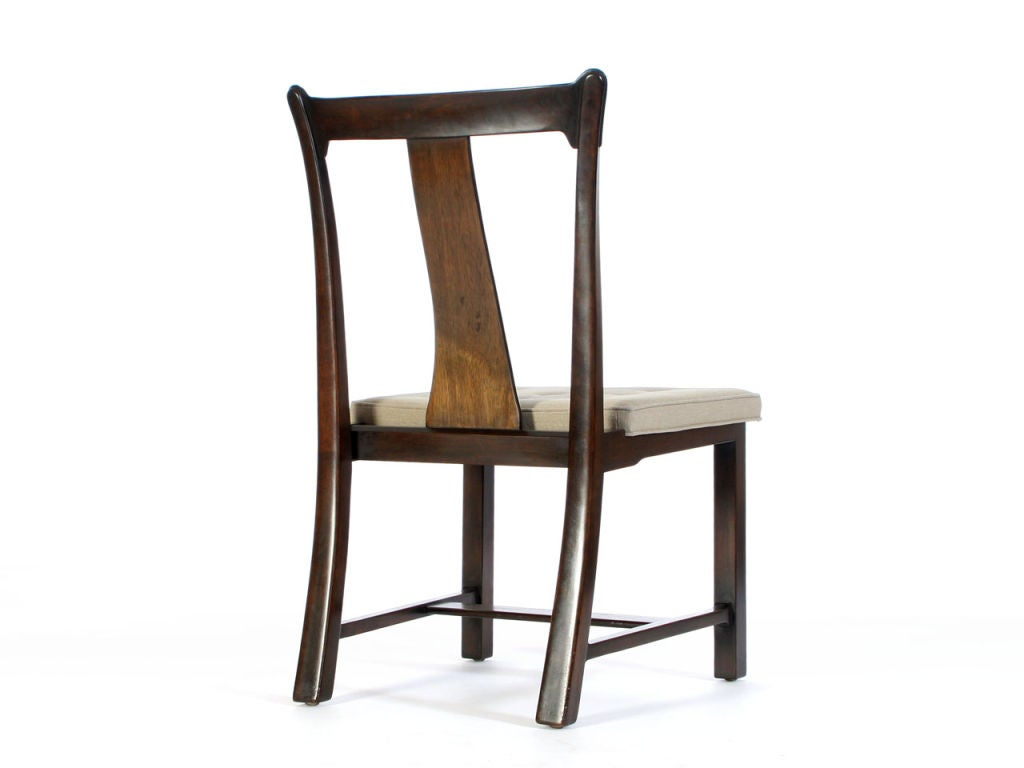 walnut dining chairs by edward wormley at 1stdibs