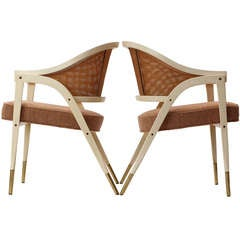 """A-Frame"" Chairs By Edward Wormley"
