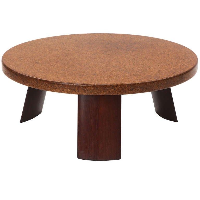 Cork Low Table By Paul Frankl At 1stdibs