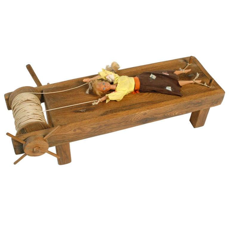 Handmade Artisan Doll Torture Quot Rack Quot At 1stdibs