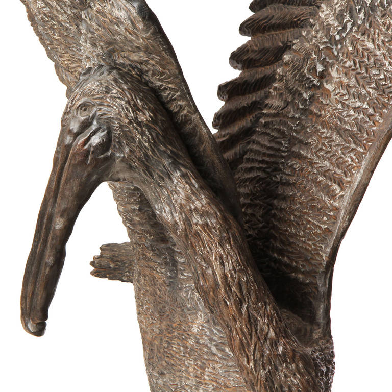 Hand-Carved Pelican by Byrd Baker For Sale 1