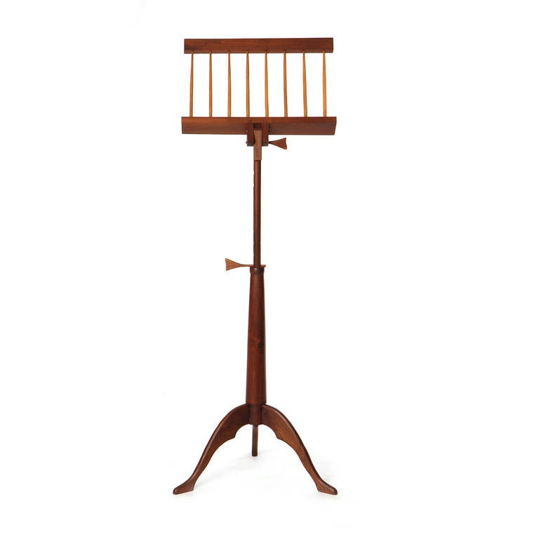 Hand-Crafted Walnut Music Stand For Sale 4