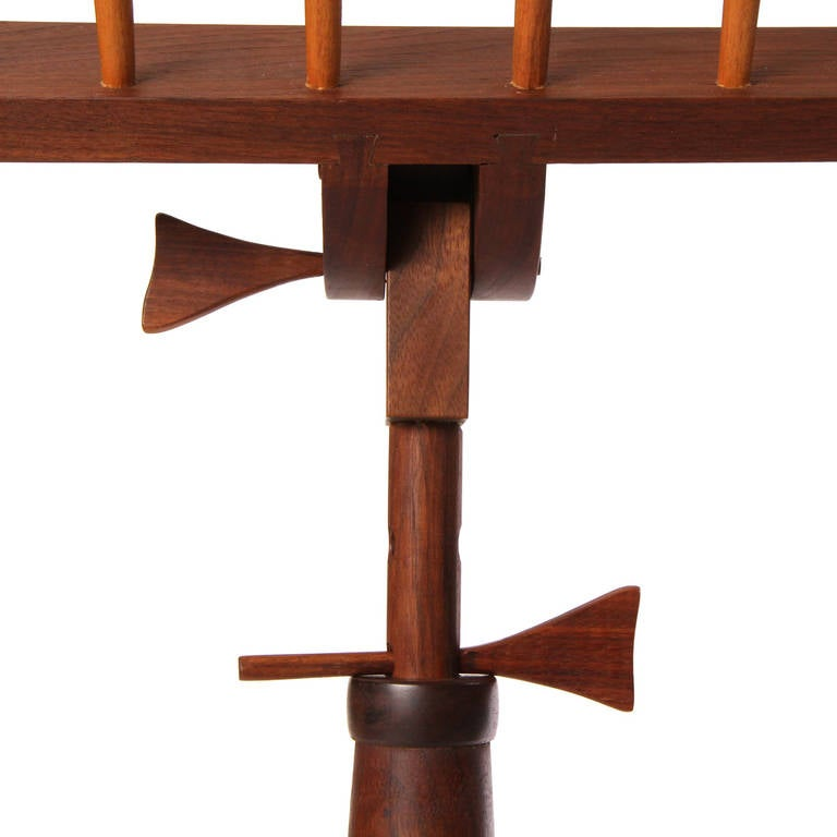 Hand-Crafted Walnut Music Stand For Sale 3