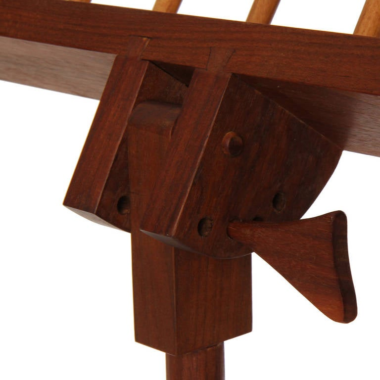 Hand-Crafted Walnut Music Stand For Sale 1