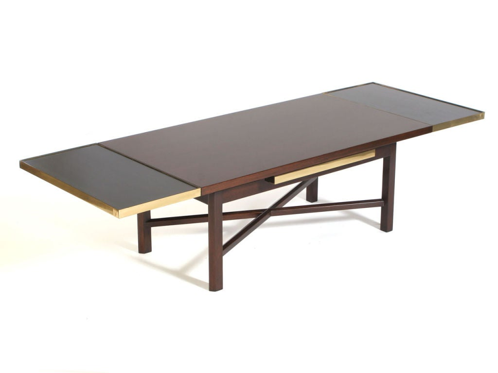 Extension low table by edward wormley at 1stdibs for Extension coffee table