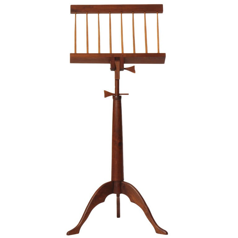 Hand-Crafted Walnut Music Stand For Sale