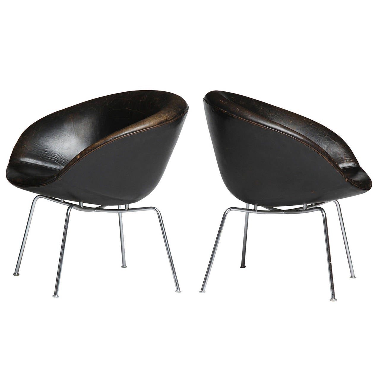 pot chair by arne jacobsen for sale at 1stdibs. Black Bedroom Furniture Sets. Home Design Ideas