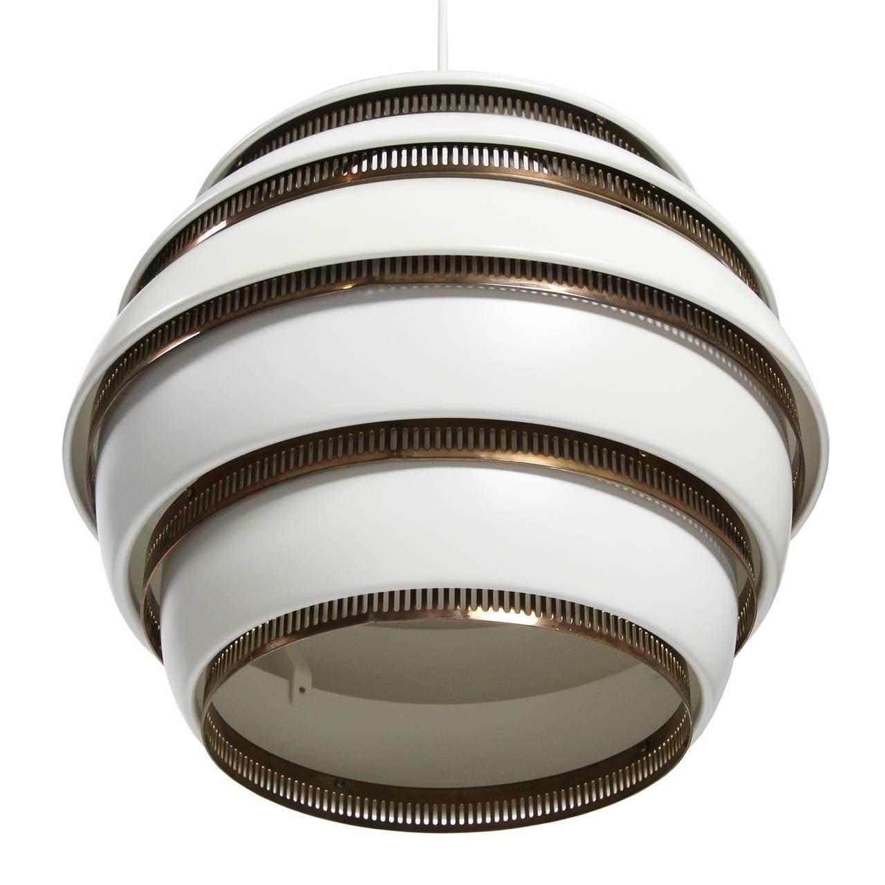 Scandinavian Modern Ceiling Lamp by Alvar Aalto For Sale