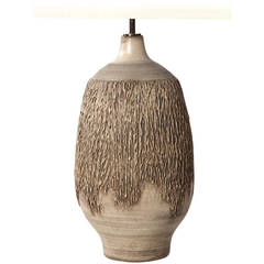 Textured Ceramic Table Lamp by Lee Rosen