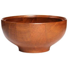 Solid Teak Serving Bowl by Henning Koppel