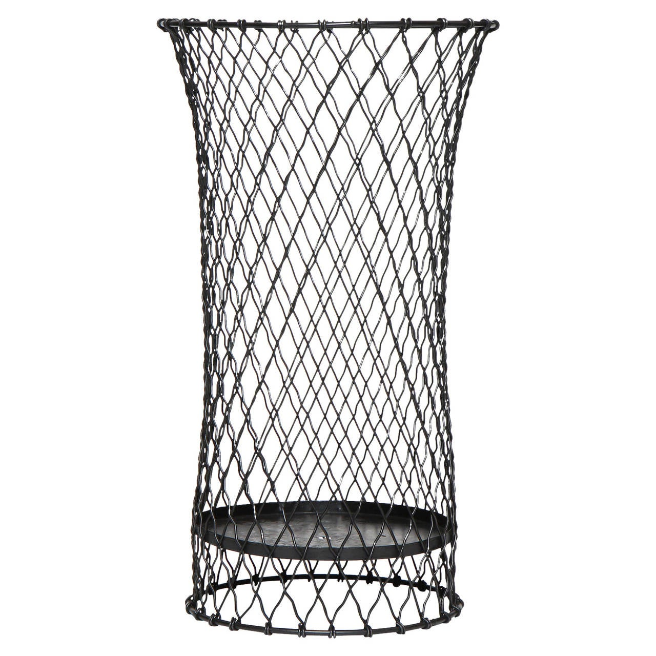 industrial wire waste basket at 1stdibs. Black Bedroom Furniture Sets. Home Design Ideas