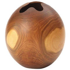 Turned Claro Walnut Vessel