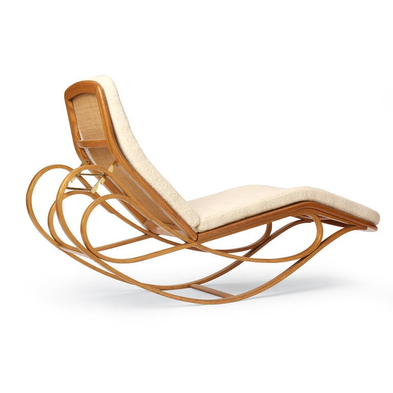 Rocking chaise longue by edward wormley for sale at 1stdibs for Chaise x rocker
