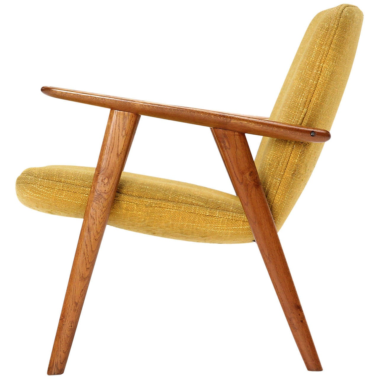 oak reading chair by hans j wegner for sale at 1stdibs. Black Bedroom Furniture Sets. Home Design Ideas