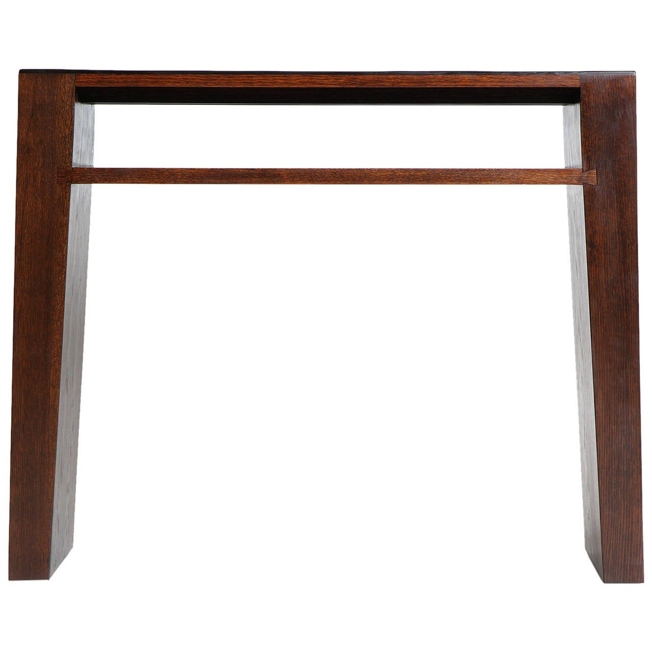 Split Bamboo Console Table by Wyeth