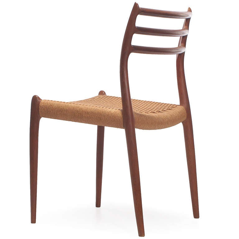 Danish Set of 10 Side Chairs by Niels Moller For Sale
