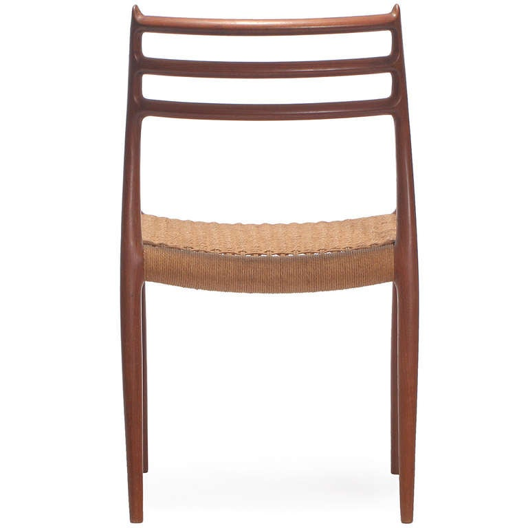 Set of 10 Side Chairs by Niels Moller In Excellent Condition For Sale In Sagaponack, NY