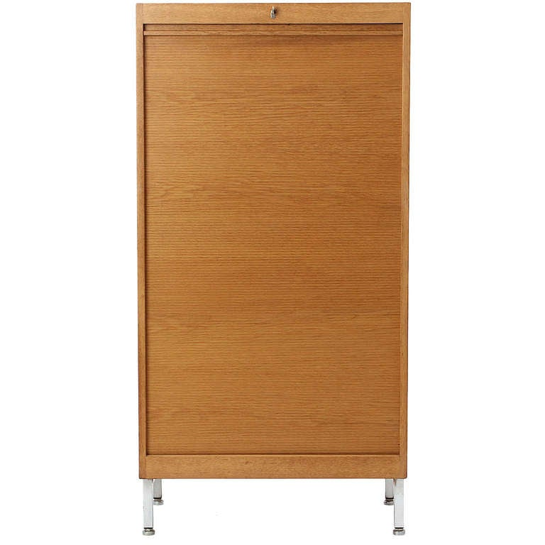 Cabinet With Tambour Door By Hans J Wegner For Sale At 1stdibs