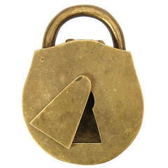 A Padlock Ashtray By Carl Aubock