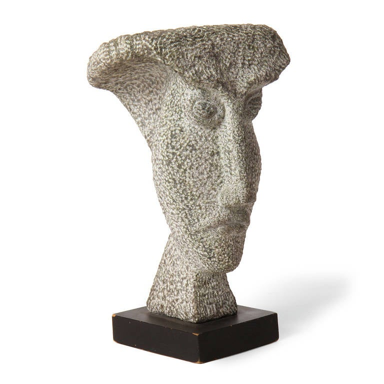 Carved Granite Bust For Sale 2