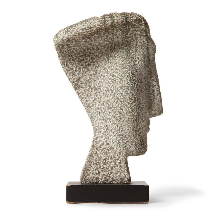 Carved Granite Bust For Sale 1