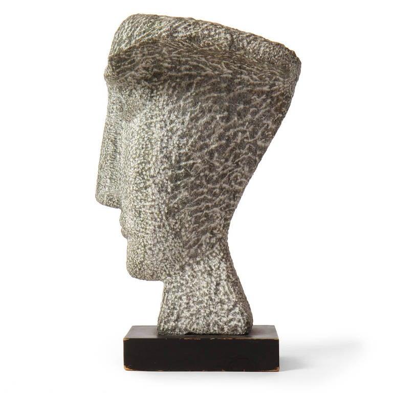 Modern Carved Granite Bust For Sale