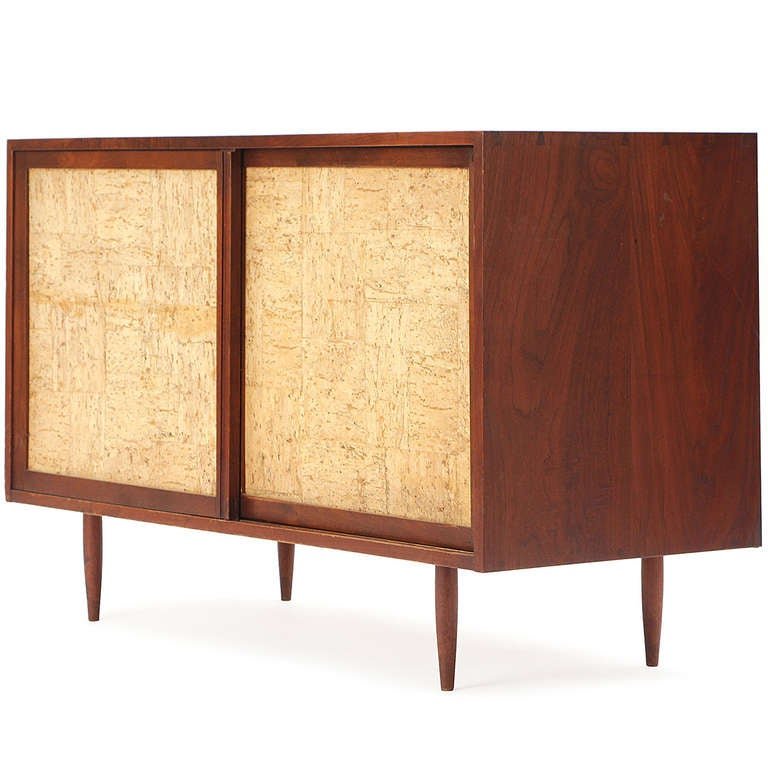 Kitchen Cabinet Handles Cork: Cork Front Cabinet By Phillip Powell For Sale At 1stdibs