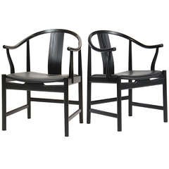 Black Lacquered Chinese Chair by Hans J. Wegner