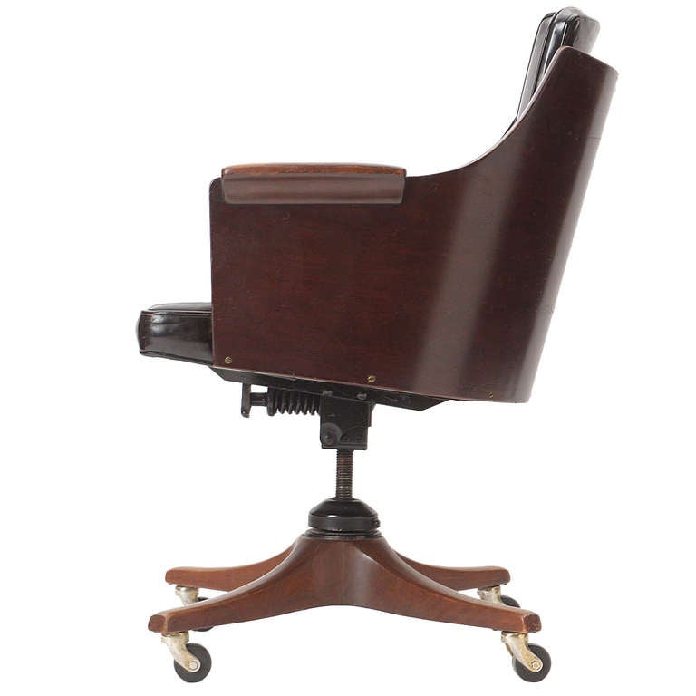 Desk chair by edward wormley at 1stdibs - Edward wormley chairs ...