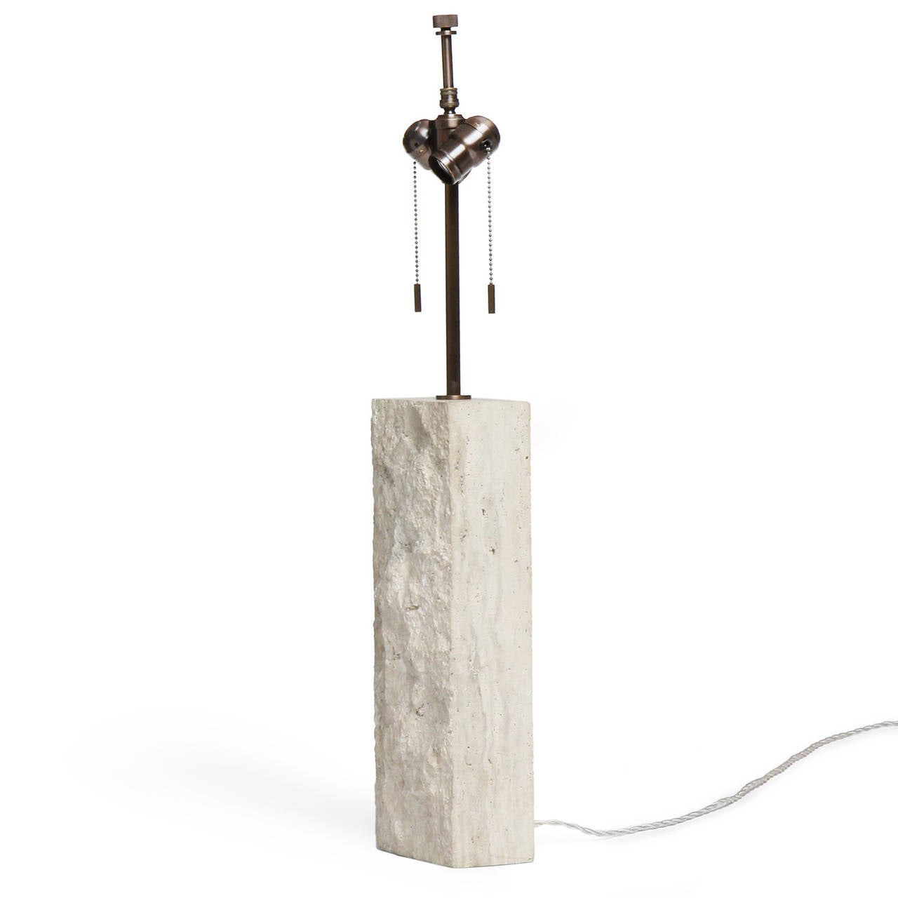 Mid-20th Century Limestone Table Lamp For Sale