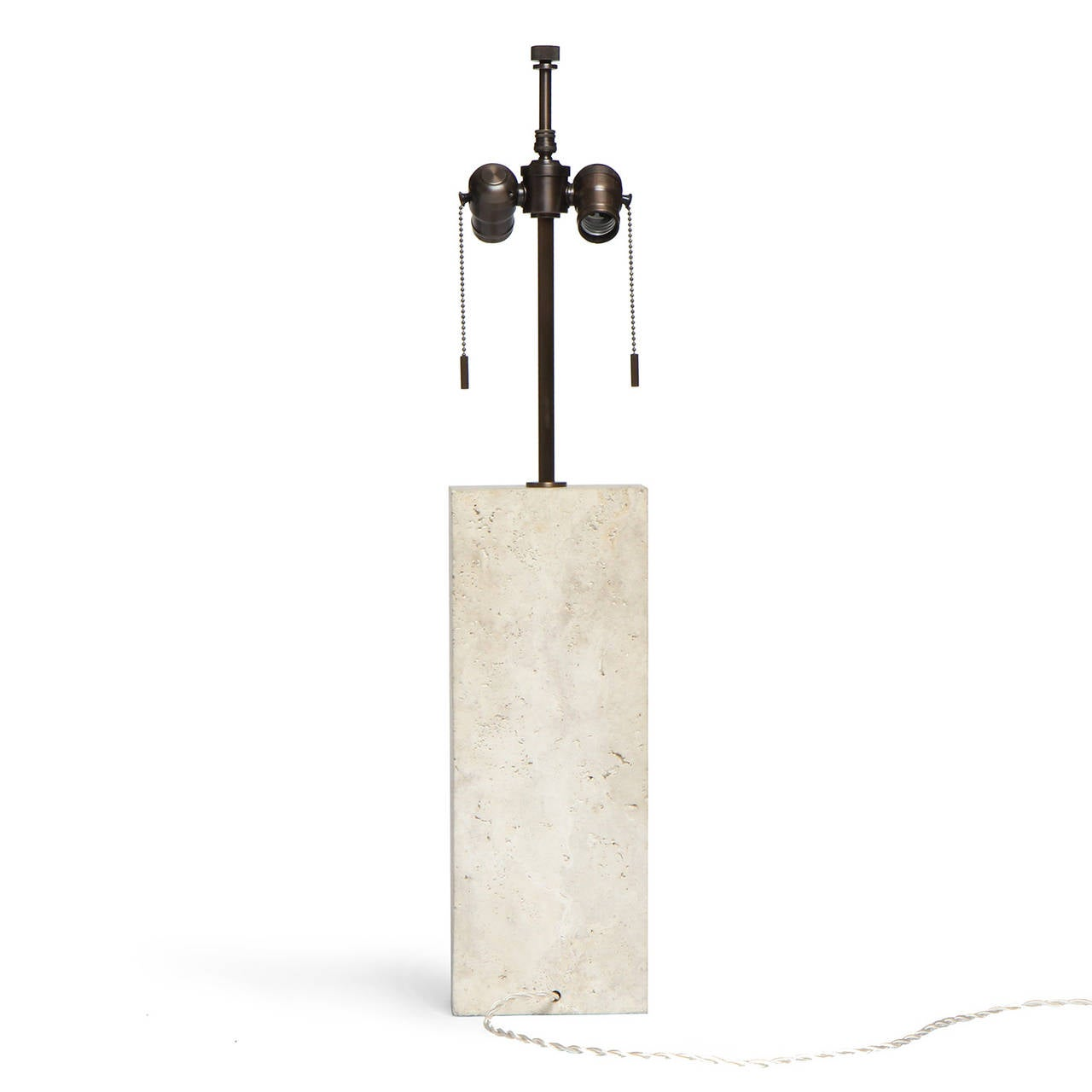 American Limestone Table Lamp For Sale