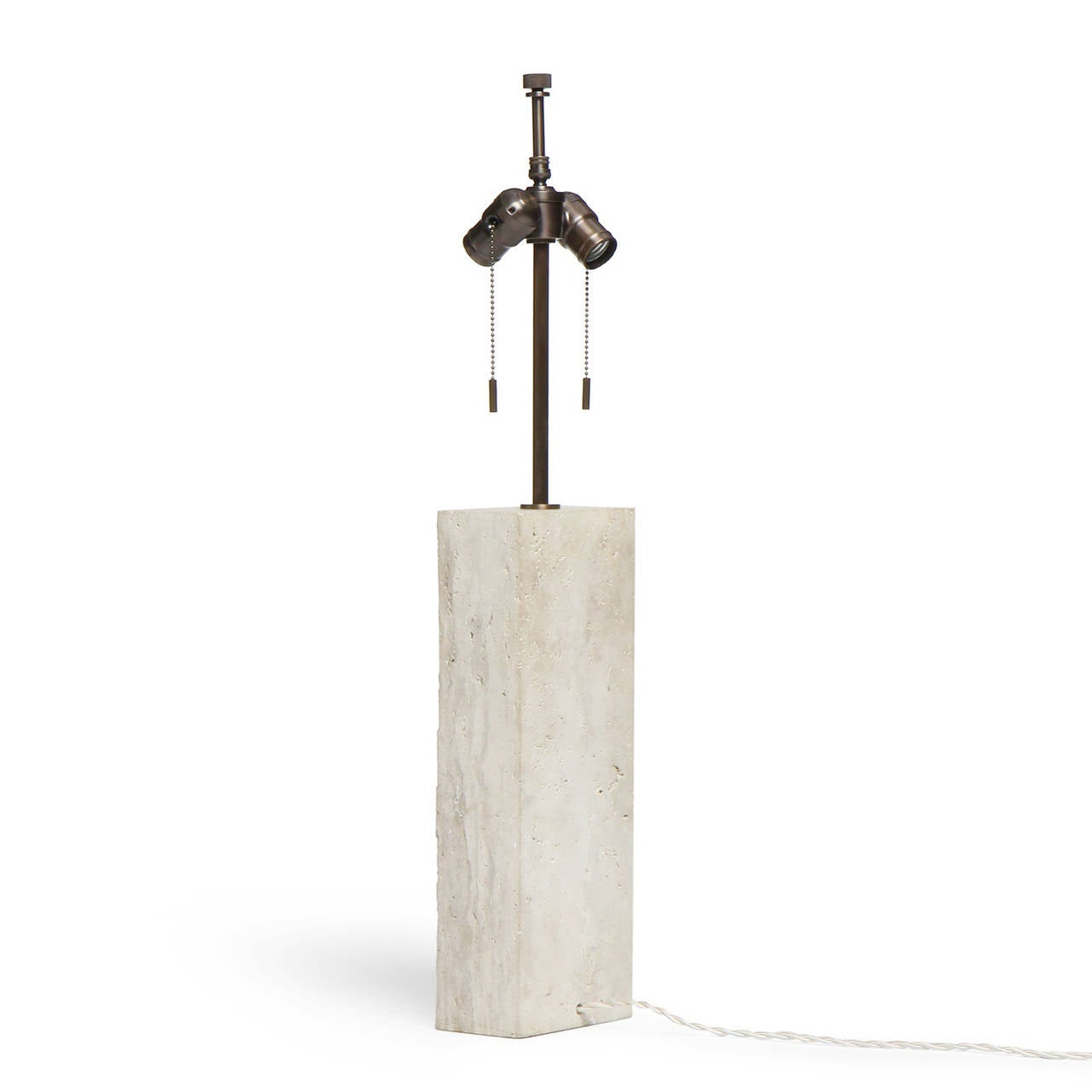 Limestone Table Lamp For Sale 1