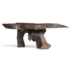 Organic Burl Redwood Low Table