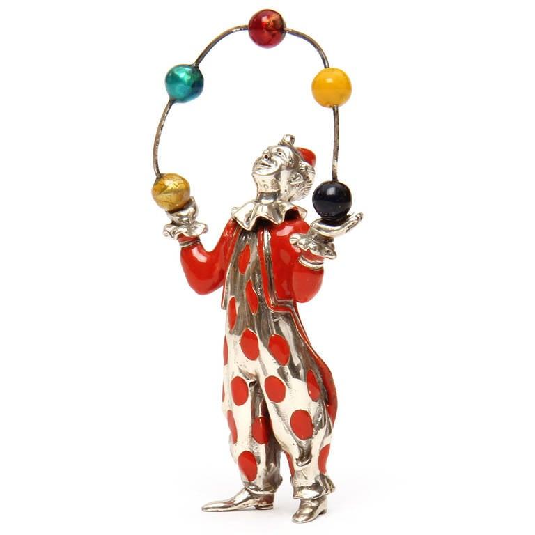 Polychromed Juggler Figurine by Tiffany & Co