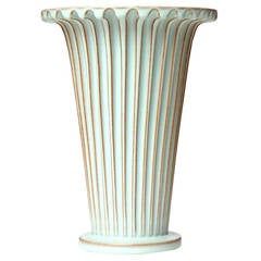 Fluted Neoclassical Vase by Christian Schollert