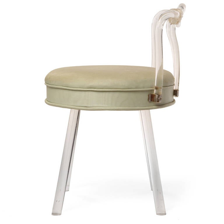 Lucite Vanity Stool For Sale At 1stdibs