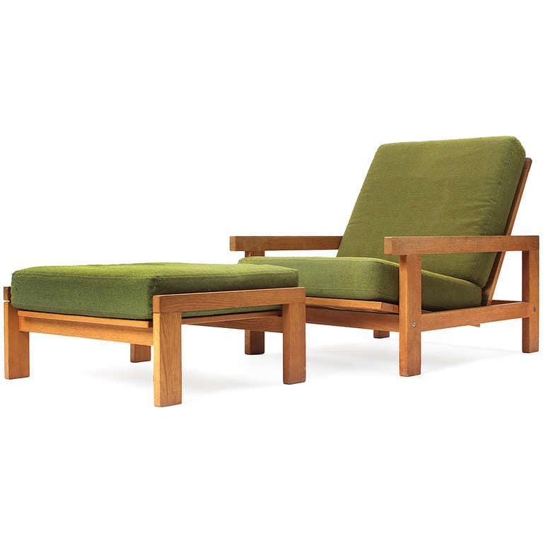 Lounge Chair And Ottoman By Hans J Wegner At 1stdibs
