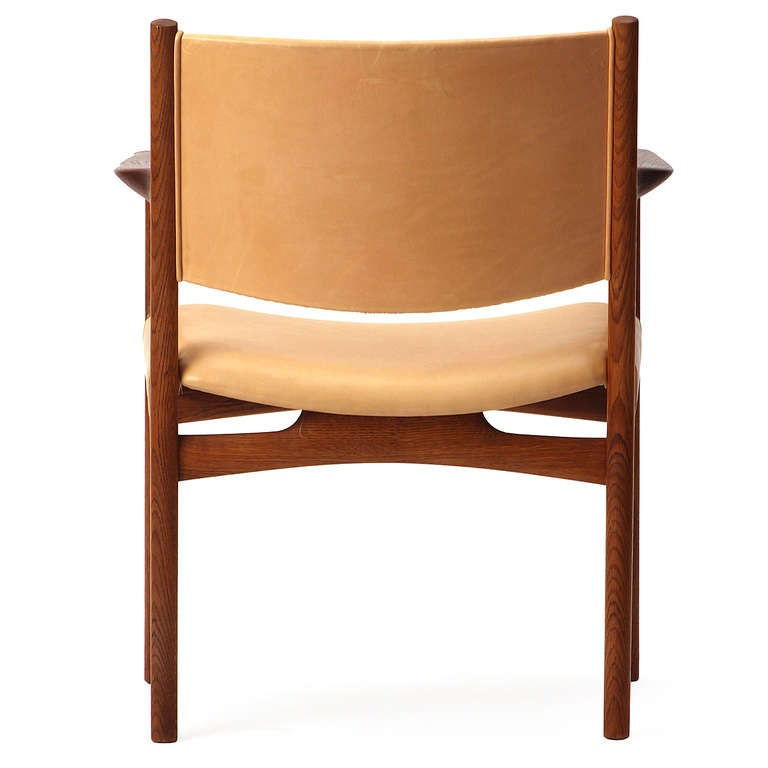 Pair of Armchairs by Hans Wegner For Sale 1