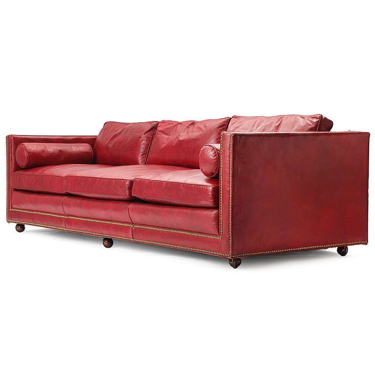 This Red Leather Sofa is no longer available.