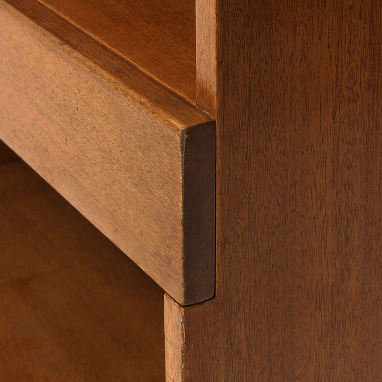 Mahogany Bookcase by Edward Wormley For Sale